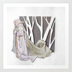 The Gray Pilgrim Art Print