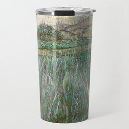 Vincent Van Gogh Wheat Field In Rain Travel Mug