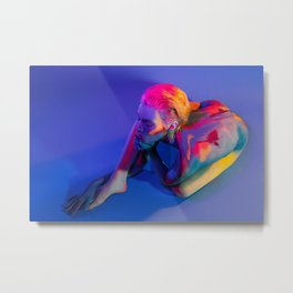 Thoughts Color Your Soul Metal Print