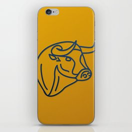 Bull in wireframe iPhone Skin
