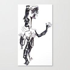 runny nose, crossed bones Canvas Print