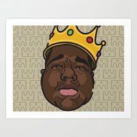 notorious big Art Prints featuring Notorious by DollarsandCents