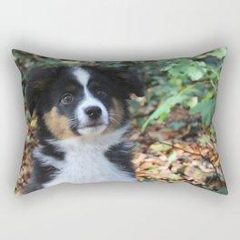 Australian Shepherd Puppy Rectangular Pillow