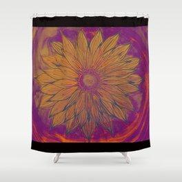 sunflower aura Shower Curtain