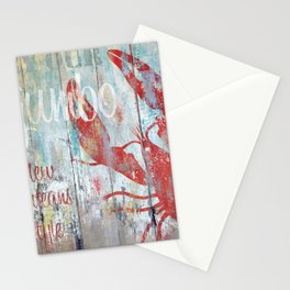 New Orleans Seafood Restaurant Sign Stationery Cards