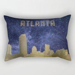 Minimalist Atlanta Skyline, Milky Way, Georgia  Rectangular Pillow