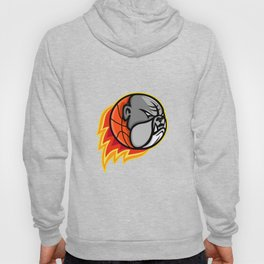 Bulldog Blazing Basketball Mascot Hoody