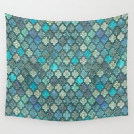 Moroccan Inspired Precious Tile Pattern Wall Tapestry