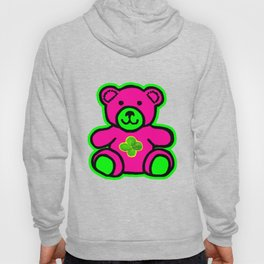 My Lucky Teddy jGibney The MUSEUM Magenta Society6 Gifts Hoody