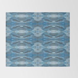 Mirrored Shades of Blue Throw Blanket
