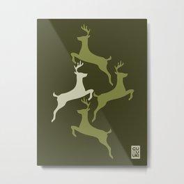 Deers Militar Metal Print
