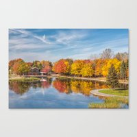 beaver Canvas Prints featuring Beaver Lake by Photos By Healy