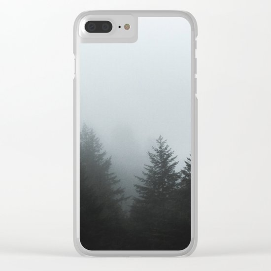 Dark forest mood Clear iPhone Case