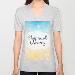 Mermaid Dreams - Underwater Mermaid Waves Unisex V-Neck