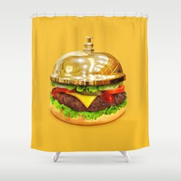 Burger Calling Shower Curtain