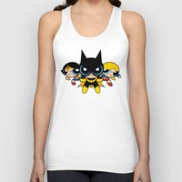 powerpuff girls Tank Tops featuring Supertough Girls by Mandrie