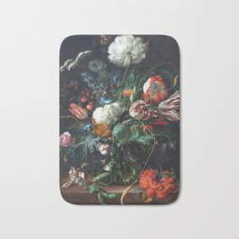 Jan Davidsz de Heem Vase of Flowers Bath Mat