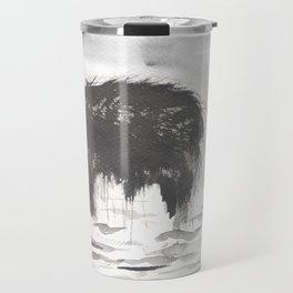 Black Ink Bear Travel Mug