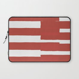 Big Stripes In Red Laptop Sleeve