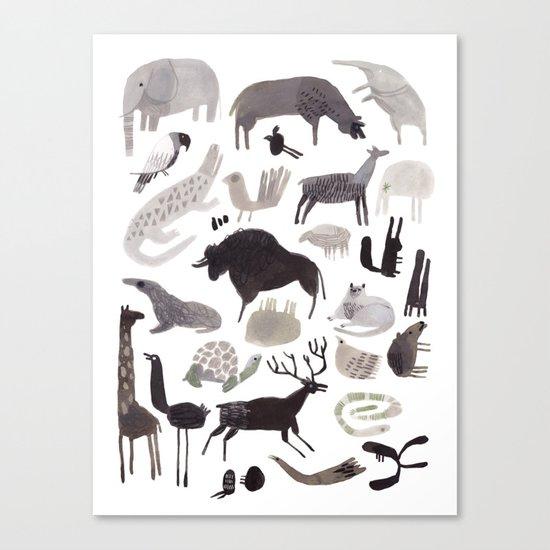 animaletti Canvas Print