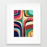 map Framed Art Prints featuring Impossible contour map by Picomodi