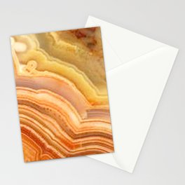 Orange Ripple Mineral Surface Stationery Cards
