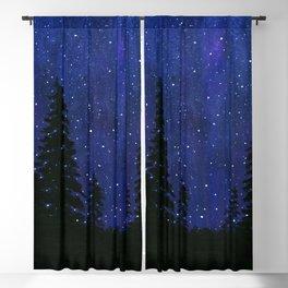 Twinkle, Twinkle, Stars Night Sky Painting Blackout Curtain