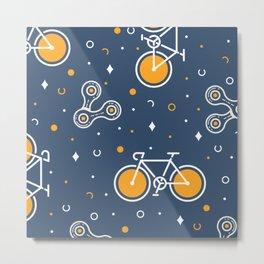 Road Bike & Chain Metal Print