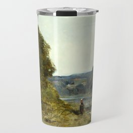 """Jean-Baptiste-Camille Corot """"The Departure of the Boatman"""" Travel Mug"""