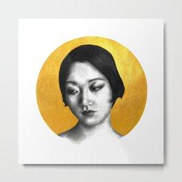 Silent Siren, Nasty Woman: Anna May Wong Metal Print