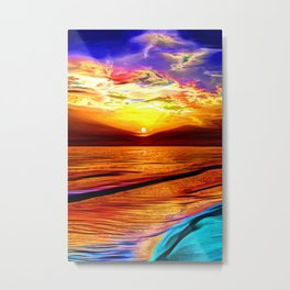 Sunset in Liverpool Bay Metal Print