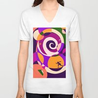 labyrinth V-neck T-shirts featuring Labyrinth  by Yvonne Muren