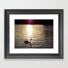 Sunset on the River Itchen Framed Art Print