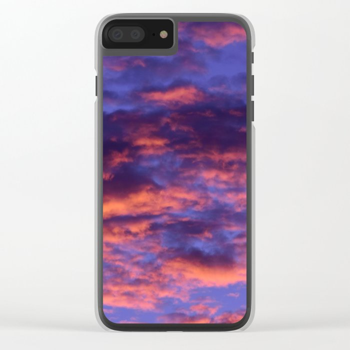 Pink and Blue Sky Clear iPhone Case