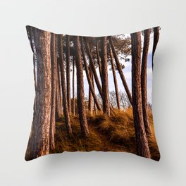 Trees by the Beach Throw Pillow