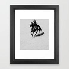 Lonely Cowboy Framed Art Print
