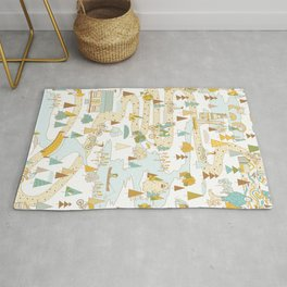 Over the River and Through the Woods Rug