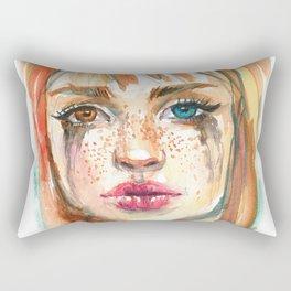 Rainy Girl Rectangular Pillow
