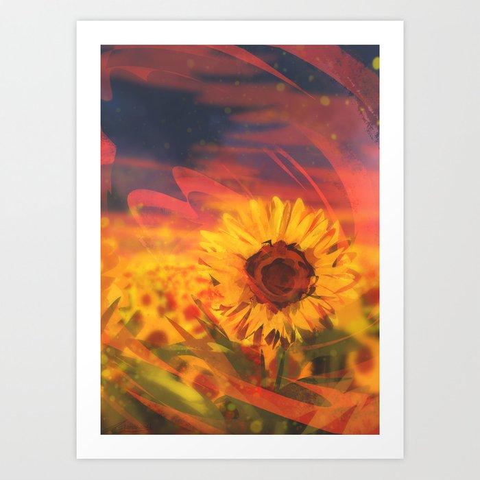 Sunflower Kunstdrucke