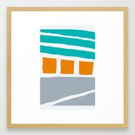 Weathered Beach Bungalows Framed Art Print