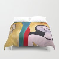 friendship Duvet Covers featuring friendship by Shahadjef