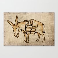 donkey Canvas Prints featuring Donkey by Adam Metzner