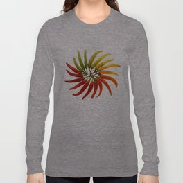 Charleston Hot Peppers Color Wheel Long Sleeve T-shirt