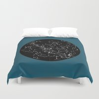 constellations Duvet Covers featuring Constellations  by Terry Fan
