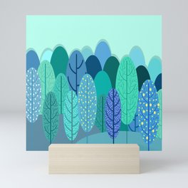 tree leaves Mini Art Print