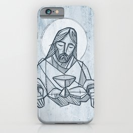 Jesus Christ at the Last Supper iPhone Case