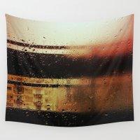 rain Wall Tapestries featuring Rain by Viviana Gonzalez
