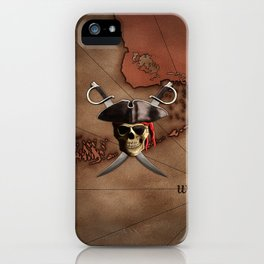 Pirate Map iPhone Case
