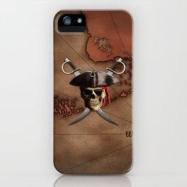 Pirate Map iPhone Case