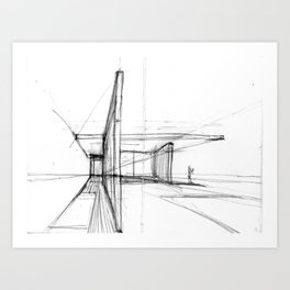 Barcelona Pavillion Art Print